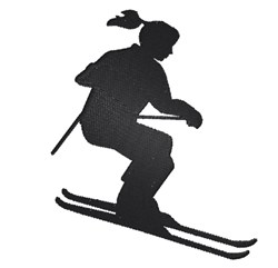 Snow Skier Silhouette embroidery design