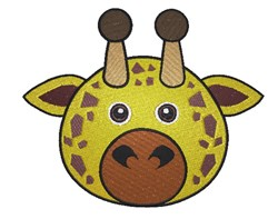Giraffe Face embroidery design