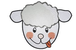 Sheep Face embroidery design