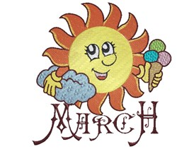 March Sun embroidery design