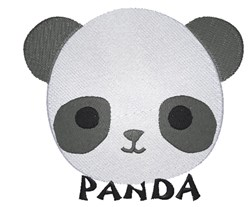 Panda embroidery design