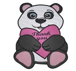 Thank You Panda Bear embroidery design