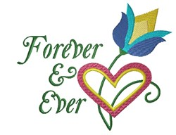 Heart and Tulip Forever embroidery design
