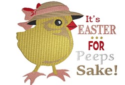 Easter Baby Chick embroidery design