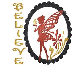 Believe In Fairies embroidery design