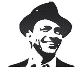 Frank Sinatra Stencil embroidery design
