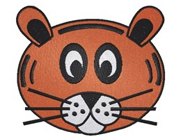 Cartoon Tiger Face embroidery design