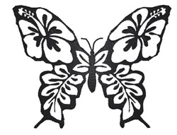 Flowery Butterfly embroidery design