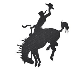 Cowboy & Bronco Silhouette embroidery design