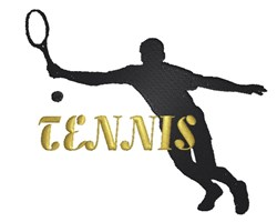 Tennis Player Silhouette embroidery design