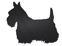 Scottie Dog Silhouette embroidery design