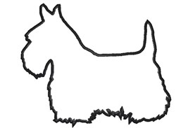 Scottie Dog Outline embroidery design
