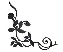 Fancy Corner Border Silhouette embroidery design