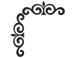 Fancy Corner Border Silhouette embroidery design