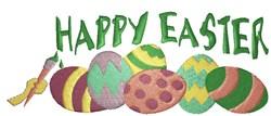Happy Easter Egg Border embroidery design