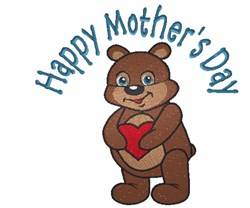 Mothers Day Teddy Bear embroidery design