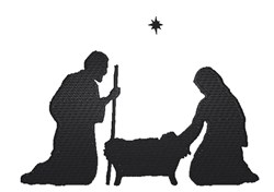 Christmas Nativity Silhouette embroidery design