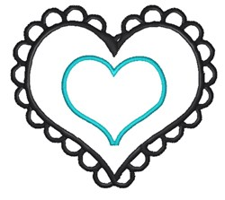 Heart In A Heart embroidery design