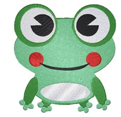 Cartoon Frog embroidery design