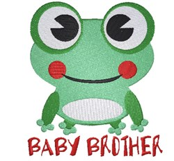 Cartoon Frog Baby Brother embroidery design