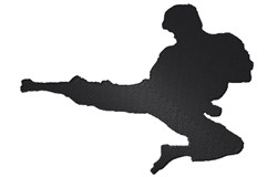 Karate Kick Silhouette embroidery design