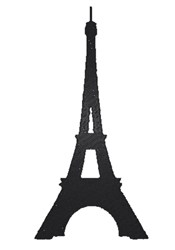 Eiffel tower silhouette embroidery design
