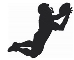 Football player silhouette embroidery design