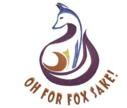 Humorous Fox Outline embroidery design
