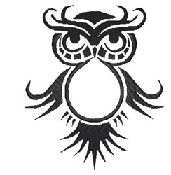 Fancy Owl Outline embroidery design