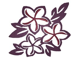 Tropical Flower Silhouette embroidery design