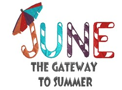 Gateway To Summer embroidery design