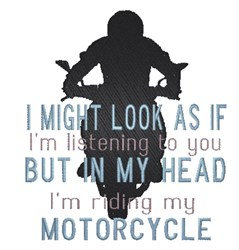 Motorcycle Silhouette embroidery design