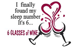 6 Glasses Of Wine embroidery design