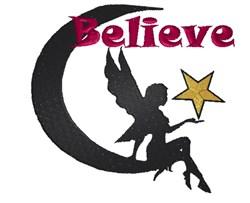 Believe Fairy embroidery design