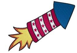 Patriotic Rocket embroidery design