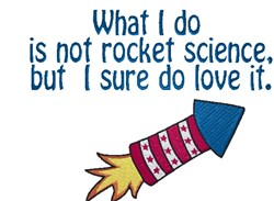 Rocket Science embroidery design