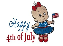 Happy 4th embroidery design