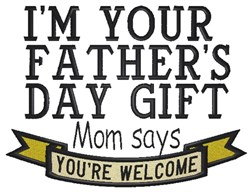 Fathers Day Gift embroidery design