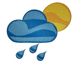 Weather embroidery design