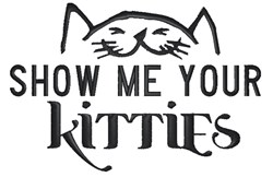 Your Kitties embroidery design