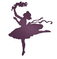 Dancing Girl Silhouette embroidery design