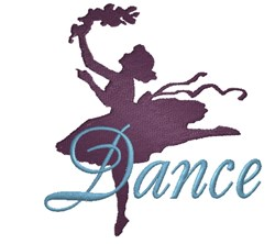 Dancing Girl Silhoutte embroidery design