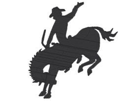 Old West Bronco embroidery design
