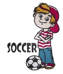 Soccer Boy embroidery design