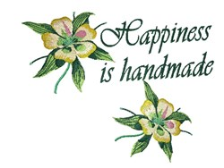 Happiness is Handmade embroidery design