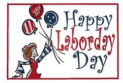 Happy Labor Day embroidery design
