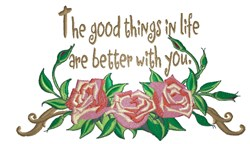 Good Things In Life embroidery design