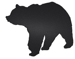 Bear Silhouette embroidery design