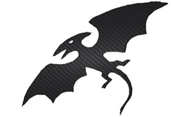 Pterodactyl Silhouette embroidery design