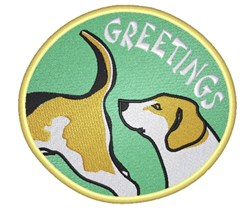 Dog Greetings embroidery design